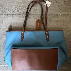 Coach Bags - Brand new light blue Coach tote bag (with tags)